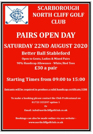 Pairs Open Day