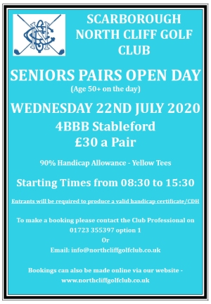 Seniors Pasirs Open Day